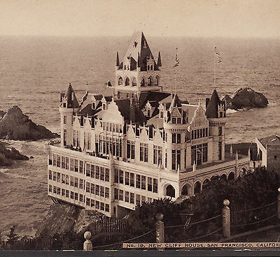 Cliff House San Francisco ca. 1898 Ocean Hotel Hoods Cure Advertising Photo Card