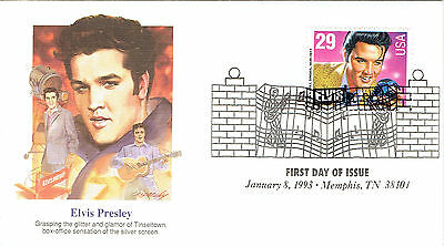 Elvis Presley Stamp/Briefmarke Ersttagsbrief 4 - King of Rock 'N Roll (1993)