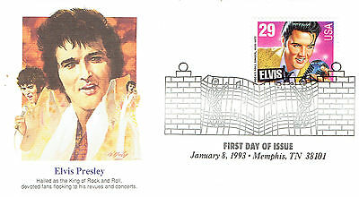 Elvis Presley Stamp/Briefmarke Ersttagsbrief 5 - King of Rock 'N Roll (1993)