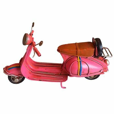 Vintage tin plate tin model pink vespa scooter  motorcycle metal model small