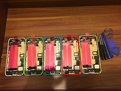 FULL ASSEMBLED Metal Chassis Replacement Housing Back Cover for Apple iPhone 5C