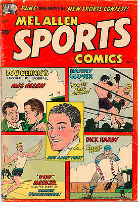 Mel Allen Sports Comics #6 - Lou Gehrig Boxing Mystery Pitch - (Grade 4.5) 1950