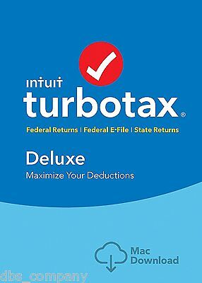 TurboTax Deluxe 2016 Tax Federal & State Efile for MAC INSTANT DOWNLOAD