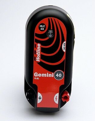 Hotline HLC40 Gemini 0.8J Electric Fence Energiser. Powered by battery or mains.