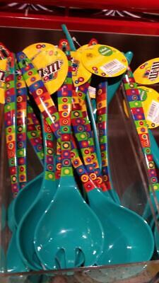 M&M's World Salad Spoons Servers Set of 2 New with Tags