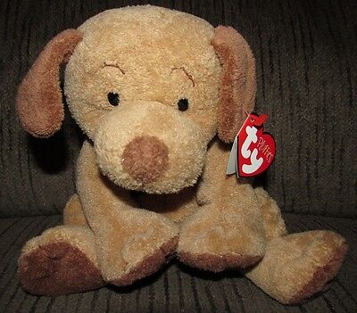 NWT Ty Pluffies Brown Puppy Dog Puppers Stuffed Animal Plush TyLux 2003