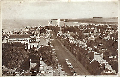 View From College Church Tower, ST. ANDREWS, Fife