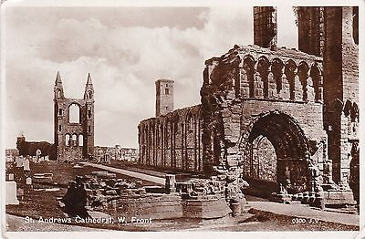 West Front Of Cathedral, ST. ANDREWS, Fife RP
