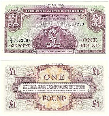 Great Britain - British Armed Forces 1 Pound 1962 UNC Banknote + FREE NOTE