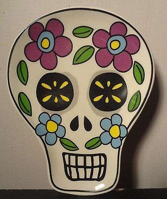 Day of the Dead Sugar Skull Dish/Spoonrest (white)