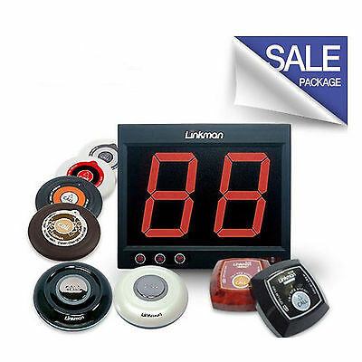 LINKMAN  Cafe Ordering Systems, 5 Pagers,1 Receiver System #
