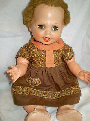 Vintage Antique Drink&Wet Baby Doll Gorgeous High Color&Clothes!