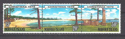 Norfolk Island , 1979 , Christmas , Strip Of 3 Stamps ,  Perf,  Mnh