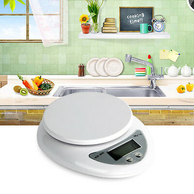 5kg 5000g/1g Digital Electronic Kitchen Food Diet Postal Scale Weight Balance #D