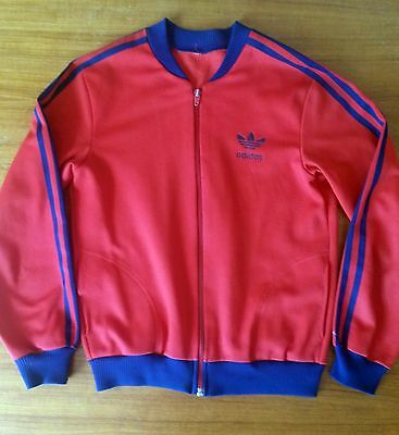 Adidas 70s jacket red and blue - vintage