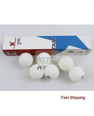 XUSHAOFA 3 star 40+ Poly balls White table tennis balls ITTF Seamless(Pack of 6)
