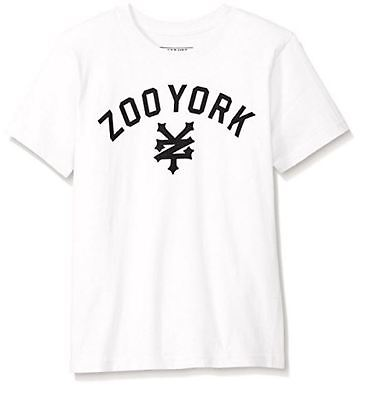 ZOO YORK New Boys T Shirt Tee Size (S M L XL) White