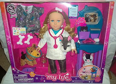 """New MY LIFE AS 18"""" BLONDE VETERINARIAN / VET 30 PIECE SET 2016 DOLL OF THE YEAR"""