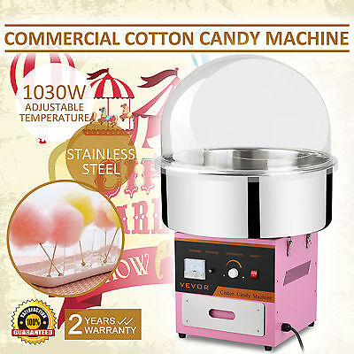 Electric Commercial Cotton Candy Machine / Floss Maker Pink W/ Cover