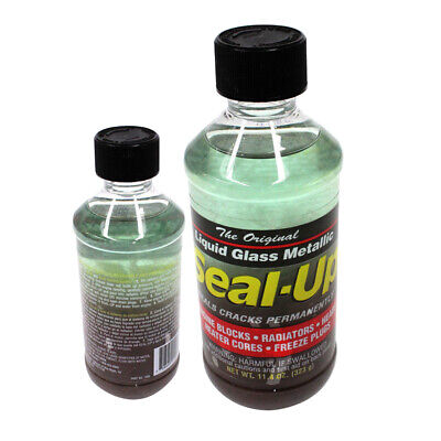 SEAL UP 1008 LIQUID GLASS METALLIC - COOLING SYSTEM SEALER HI TEMP 323g
