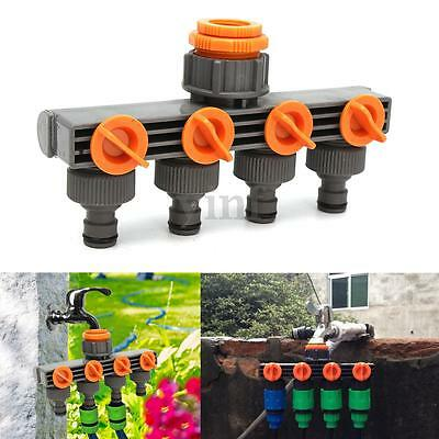 Four-Way Out Plastic Water Distributor Valves Garden Yard Tap Hose Pipe Fittings
