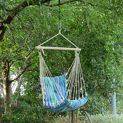 Portable Hanging Swing Chair Striped Air Hammock Sleeping Bed Seat Garden Yard