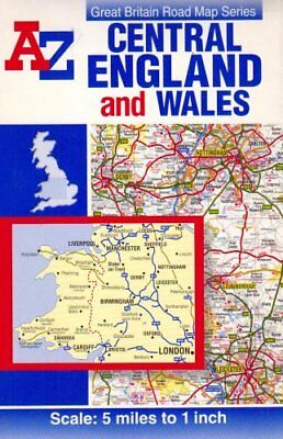 A-Z Wales and Central England Road ... by Geographers' A-Z Map Sheet map, folded