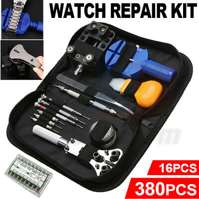 380Pcs/16Pcs Watch Repair Tools Kit Watchmaker Opener Remover Spring Pin Bars