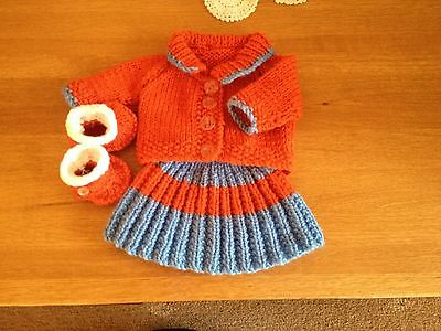 """Knitted Dolls Clothes12""""-14"""" To Fit Baby Doll"""