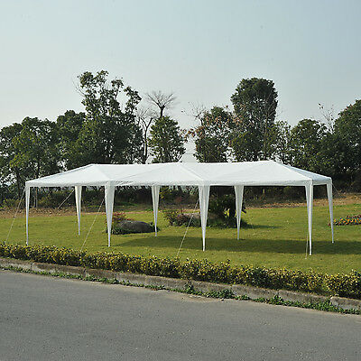 Outsunny 30 x 10ft Party Tent Gazebo Canopy Easy Set w/ Mesh Mosquito Netting