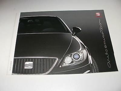 Seat Exeo    Car Brochure   From 01/2009     Free Uk  P&p