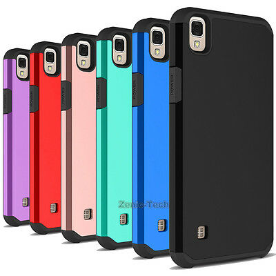 For LG X Style/Tribute HD Case Shockproof Hybrid Rubber Hard Armor Back Cover