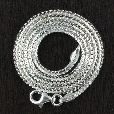 Geniune Solid 925 Sterling Silver Franco Arrow Link 1.5mm Chain Italy