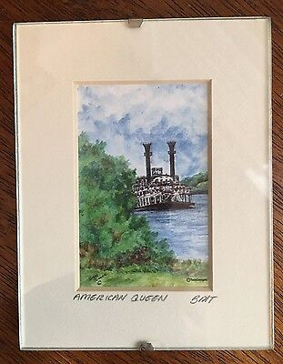 """Petite Gallery American Queen Steamboat Print Signed By Brad Tonner 4.5""""x 3.5"""""""