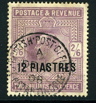 BRITISH LEVANT-1902-5 12pi on 2/6 Pale Dull Purple fine used Chalky Sg 11a