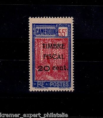 CAMEROUN ** n° 139 SURCHARGE TIMBRE FISCAL 20 CENT. / COLONIE FRANCAISE / TTBE