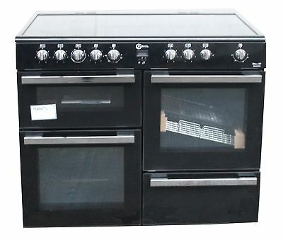 FLAVEL MLN10CRK 100cm Electric Ceramic Range Cooker Double Oven Black #1856