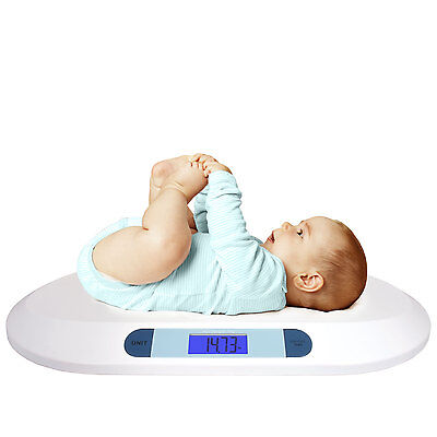 Smart Weigh Comfort Digital Baby Scale Large Backlit LCD Display 3 Modes 20kg