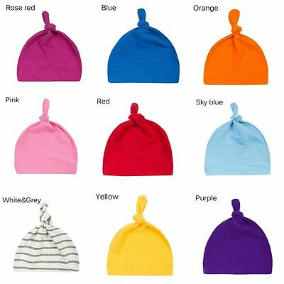 Cute Newborn Baby Knotted Hat Boys Girls Soft Cap Infant Toddle Cotton Beanie