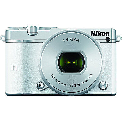 Nikon 1 J5 Digital Camera w/ NIKKOR 10-30mm f/3.5-5.6 PD Zoom Lens - White