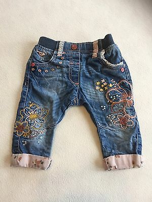 Baby Girls Clothes 3-6 Months - Cute Next Jeans Trousers -