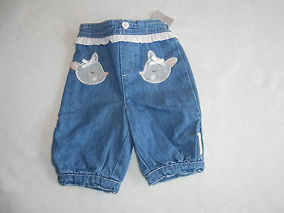 Baby Girls Clothes 0-3 Months - Cute Jeans Trousers -New- We Combine Postage