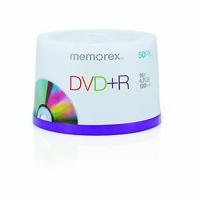 Memorex DVD+R 120 Mins 4.7GB 16x Speed Recordable Blank Discs - 50 Pack Spindle
