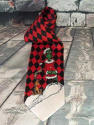 DR. SEUSS  How The GRINCH Stole Christmas Max Holiday Silk Men's Neck Tie