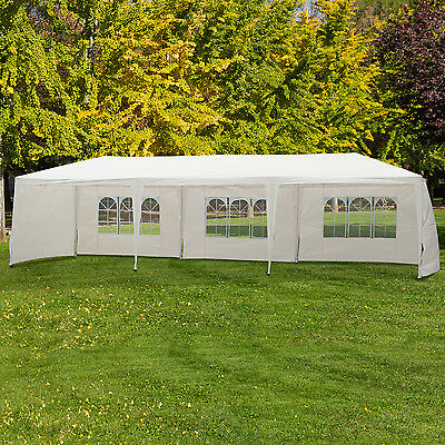 Outsunny 10'x30' Portable Wedding Party Tent Outdoor Event Camping Gazebo Canopy