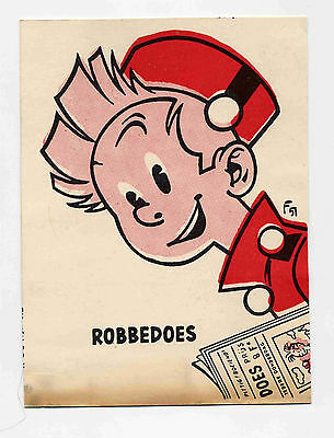 Robbedoes carte  Franquin 1951  TBE