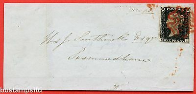 """SG. 2. A1 (2). AS15. """" KI """". 1d Black. Plate 2. A fine used example on cover."""