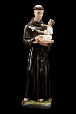 """24"""" Large Plaster Statue of Saint Anthony with The Child Jesus Religious Figure"""