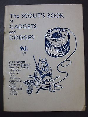 1946 The Scout's Book Of Gadgets And Dodges Vintage Scout book paperback stapled