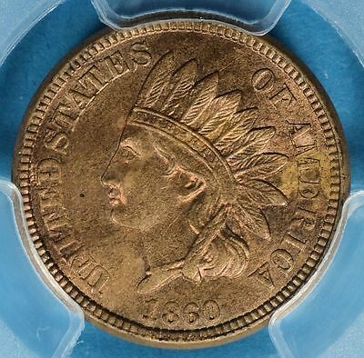 1860 Indian Head Cent PCGS MS63- Nice Patina, Eye Appeal